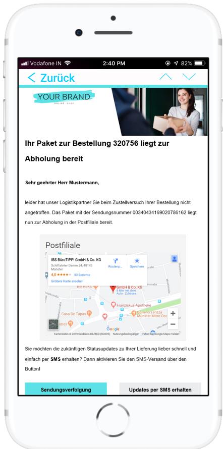 Personalisierte Nachrichten in Ihrem Design - PAQATO