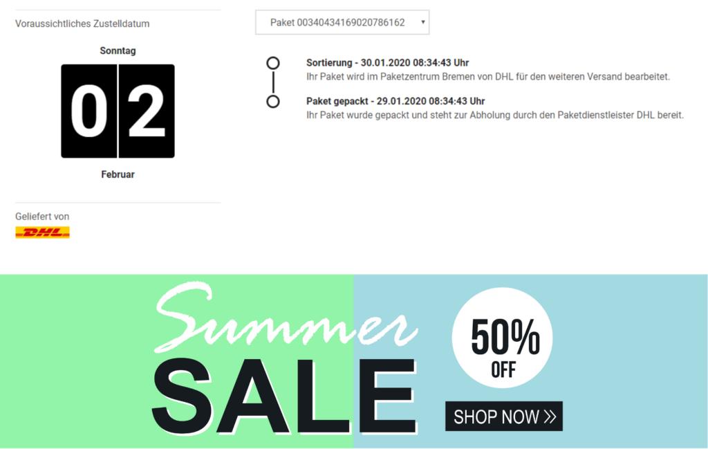 Banner mit Sales-Aktion - PAQATO