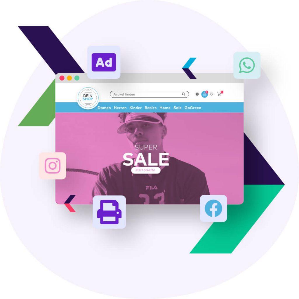 Mögliche Kanäle deiner Customer Journey für deines Onlineshops