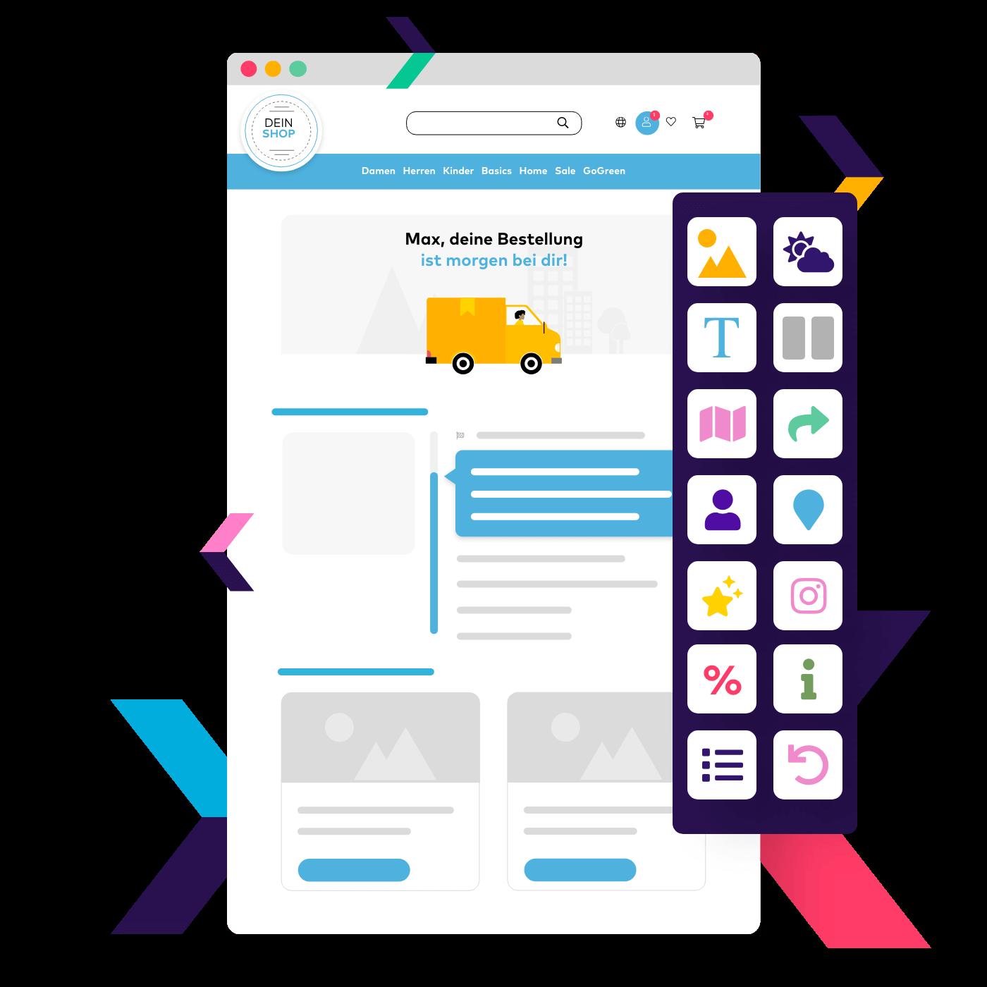 Der einfachste Weg zur eigenen Track & Trace Seite. Erstelle auf Basis vielfältiger Vorlagen deine eigene Track & Trace Seite im eigenen Corporate Design und informiere Kunden übersichtlich über den Status ihrer Paketreise.