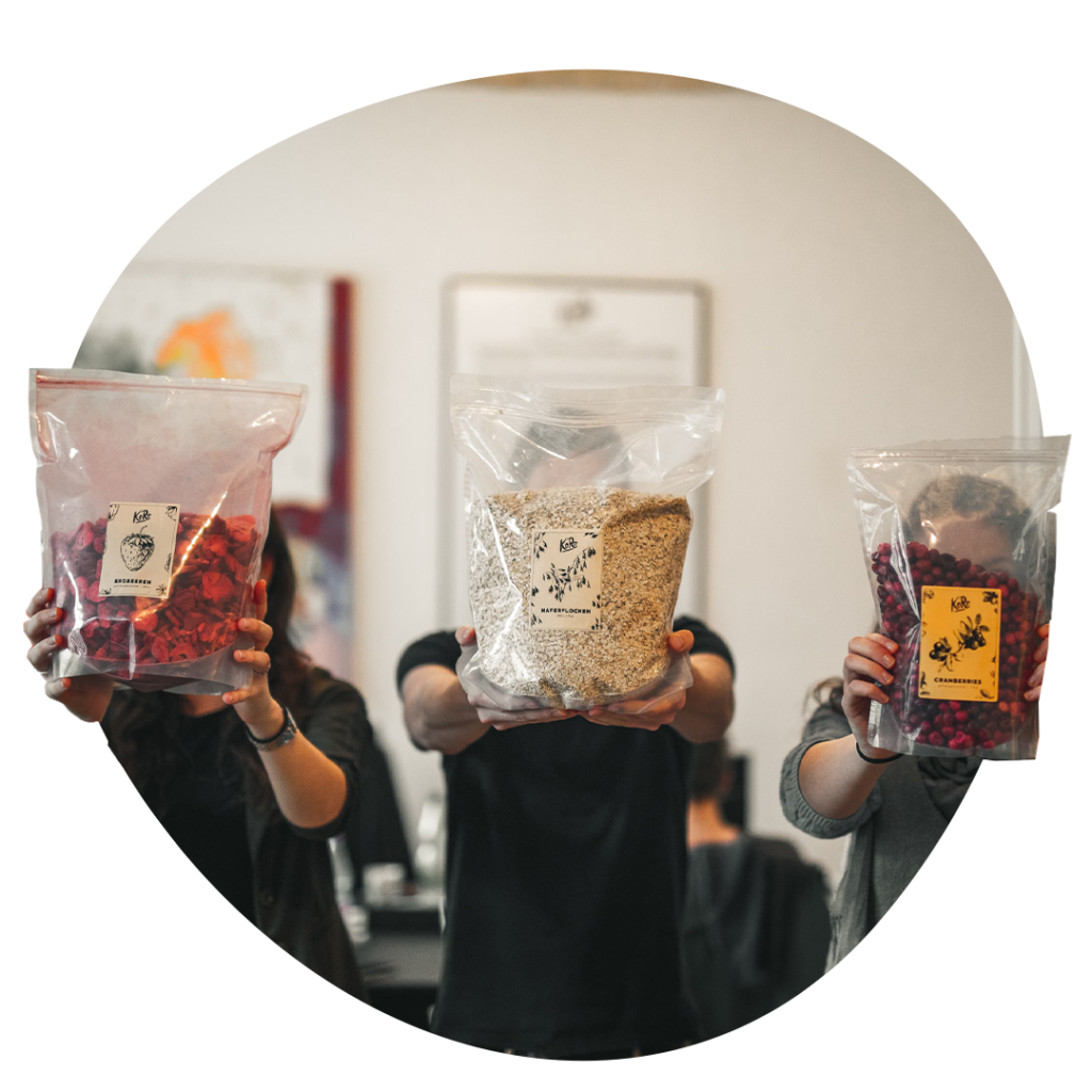 KoRo Drogerie - mit trockenen Lebensmitteln in großen Packs
