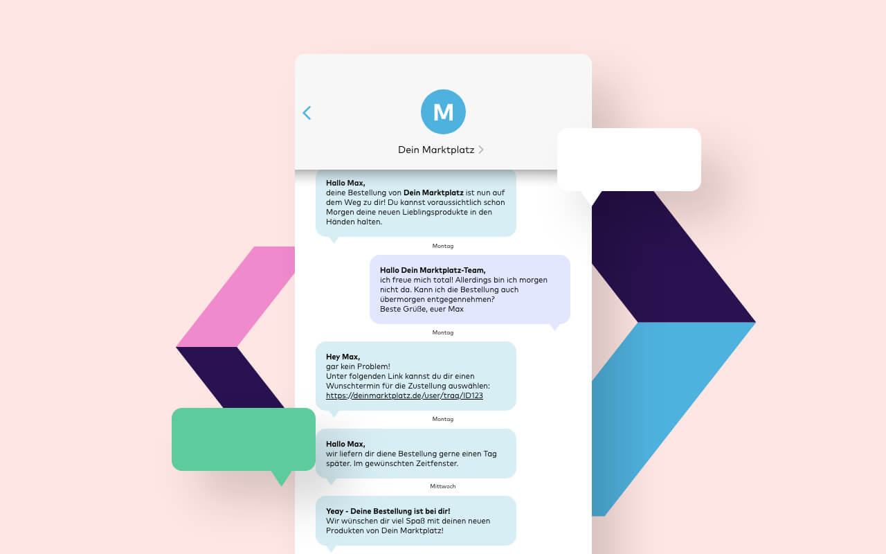 Versandkommunikation per SMS