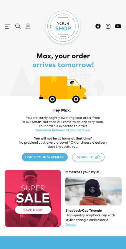 SPEAQ - The order will arrive tomorrow.
